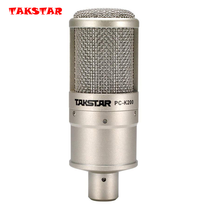 Original Takstar PC K200 Microphone Recording broadcasting on stage performance Condenser Microphones K Song Mini Microphone