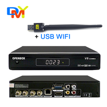 TV Box Receptor Digital de Satélite V8 Combo T2 del DVB S2 HD WIFI DVB-T2 DVB-S2 Smart TV Caja soporte CAS Cccam PVR + Wifi USB