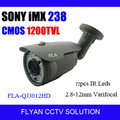 WDR CCTV Bullet Camera SONY IMX238 CMOS 1200TVL 2.8-12MM Lens 72pcs Leds Day Night Outdoor Security Video Surveillance Camera