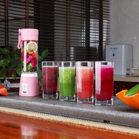 Mixed fruit electric Juice cup Mini Student Portable Juice Extractor, Full Automatic Fried Juice Glass Milk Shake 400ML
