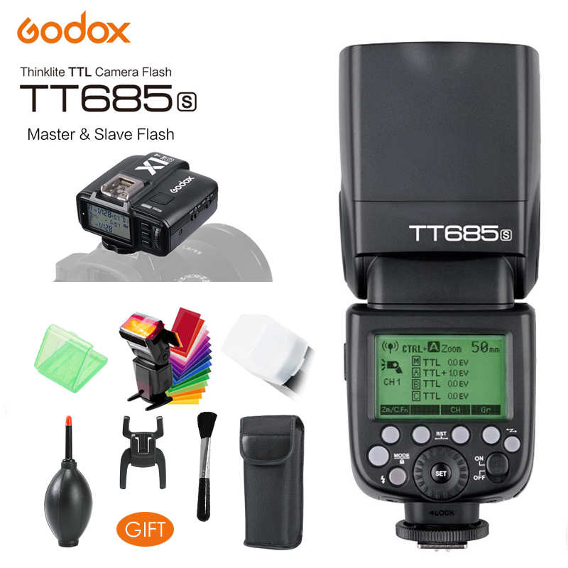 Godox TT685S 2.4G HSS TTL GN60 Wireless Flash Speedlite, X1S Trigger Transmitter for Sony A58 A7RII A7II A99 A9 A7R A6300 Camera pixel x800s standard gn60 hss ttl flash speedlite 2pcs king pro 2 4g flash trigger transceivers for sony a7 a7s a7r a7rii