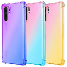 XINDIMAN Tpu backcover for huaweiP20 P20pro P30 P30pro P20lite case Gradient colorful honor8A 8X Psmart Y9prime Mate20