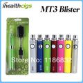 EVOD MT3 E Cigarette MT3 Starter Kits Blister E Cigs MT3 Atomizer EVOD  Battery Ego Electronic Cigarette Free Shipping