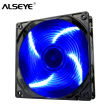 ALSEYE 120mm fan cooler 4LED radiator fan for computer case/CPU cooler/water radiator 12v 1300RPM Single color led cooling fan цена
