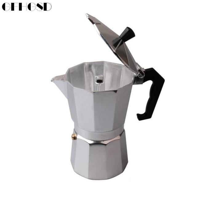 Gfhgsd Coffee Pot Aluminum Dripolator European Kettle Turkey Octagonal Pots Delicate Tool Kitchenware Moka