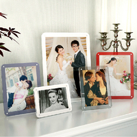 Plexiglass Desktop 6 Inch Photo Frame Transparent Acrylic Photo Magnetic Block Frames PF001