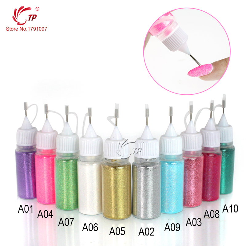 Shimmer Crystal Multic and Magic Glitter Powder Jet Design 10 Warna Nail Art Decoration Tool Acrylic UV Gel Powder Dust