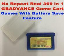 GameBox 369 dans 1 jeu Anglais Cartouche pour GBADVANCE, batterie Sauver Fonctionnalité Prise En Charge! livraison De Protection PP Cas