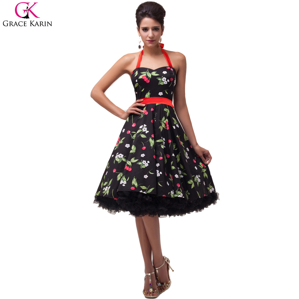Grace Karin Plus Size Retro 50s Vintage Rockabilly Dress Pin Up ...