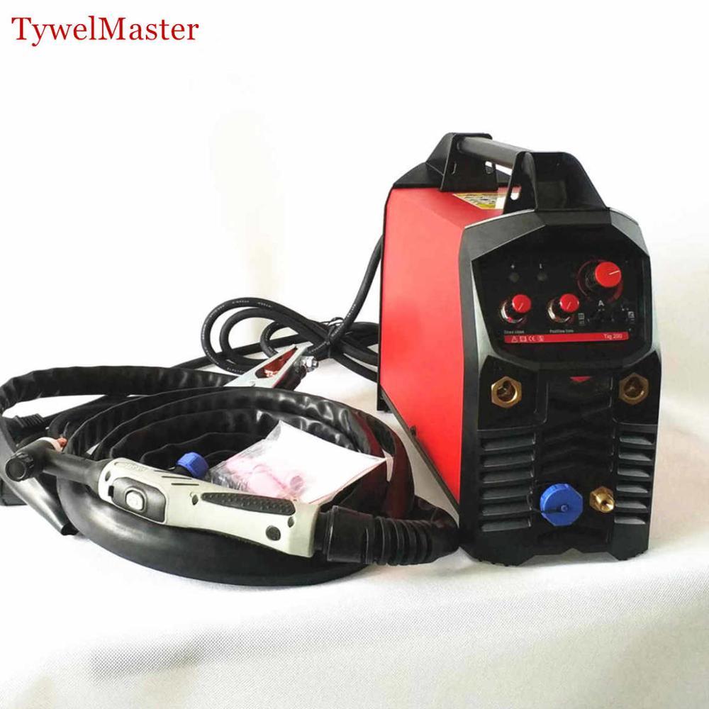 Профессиональный 200A TIG сварщик Горячий старт HF зажигание антипригарная дуговая сила CE сертифицированный 230V Инвертер MMA TIG сварочный аппарат