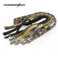 Tactical Dog Leash Quick Release Heavy Duty Dog Lead Harness Adjustable Elastic Training Belt Strap