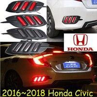 2016 2017 2018car bumer taillight for Honda Civic rear light brake LED car accessories fog taillamp for Civic rear light