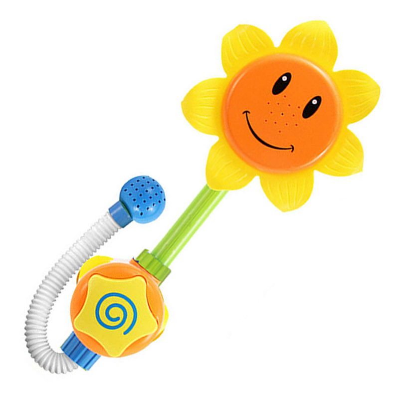 1 Set Baby Funny Water Game Bath Toy Bathing Tub Sunflower Shower Faucet Spray Water Toys For Children image
