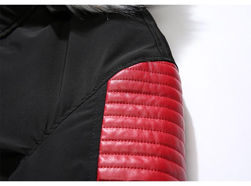 Aolamegs Fur Collar Winter Jacket Men Patchwork Thick Hooded Down Jacket Men Parkas Fashion Windproof Coat Mens Streetwear (8)