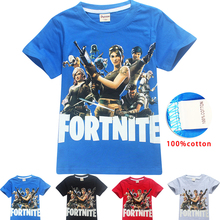 Fortnite Battle Royale Legend Gaming Pattern Tops Baby Girls Boys T-shirt