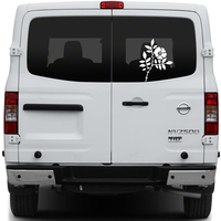 Free Shipping 1PC Rosa Chinensis Jacq And Chinese Rose Graphic Vinyl Sticker For Rear Windows Door