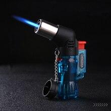 Chalumeau Portable, briquet en Butane en métal, pistolet de pulvérisation Portable, coupe vent 1300 C, briquet Pipe de cigare pour lextérieur, sans gaz