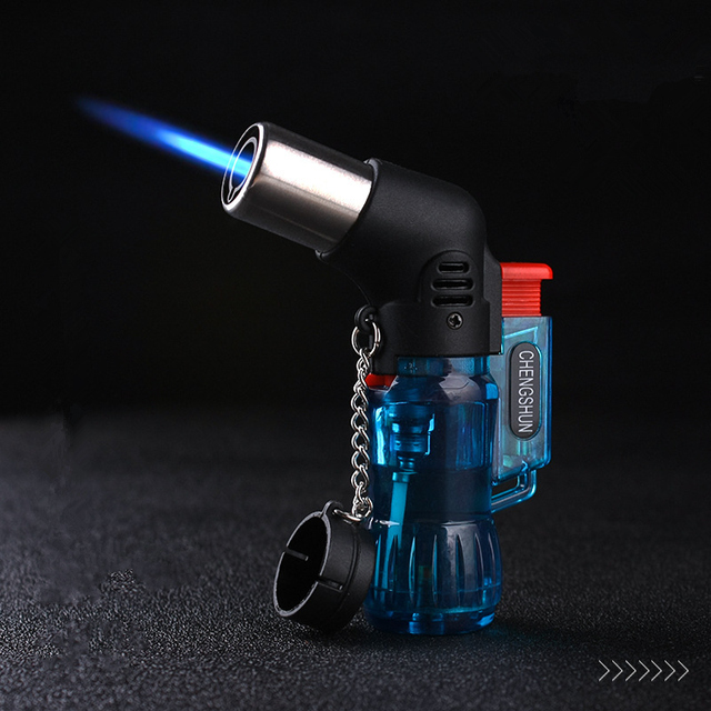 Hot Welding Torch Lighter Butane Jet Lighter Metal Turbo Portable Spray Gun 1300 C Windproof Cigar Pipe Lighter Outdoor NO Gas