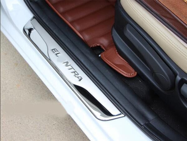 For hyundai Elantra stainless steel threshold bar welcome pedal