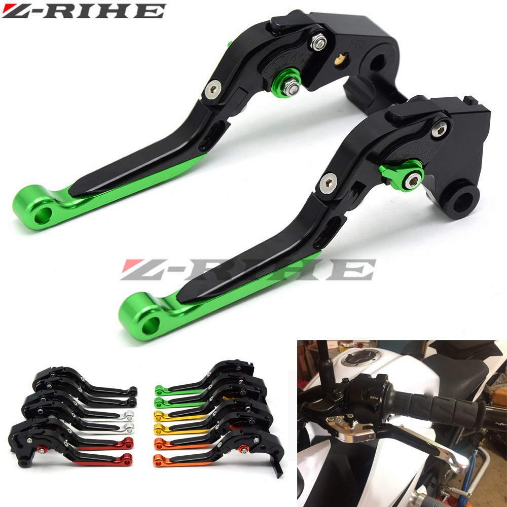 For KAWASAKI NINJA 300R 300 R 2013-2016 Z750 2007-2012 Z800/E version 13-2016 Motorcycle Folding Extendable Brake Clutch Levers for kawasaki ninja 250 ninja250 2008 2015 ninja 300 ninja300 2013 2015 motorcycle aluminum short brake clutch levers black