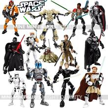 KSZ Star Wars Minifigures Darth Vader General Grievous Clone Jango Fet Figure toys Compatible With Legoe building blocks
