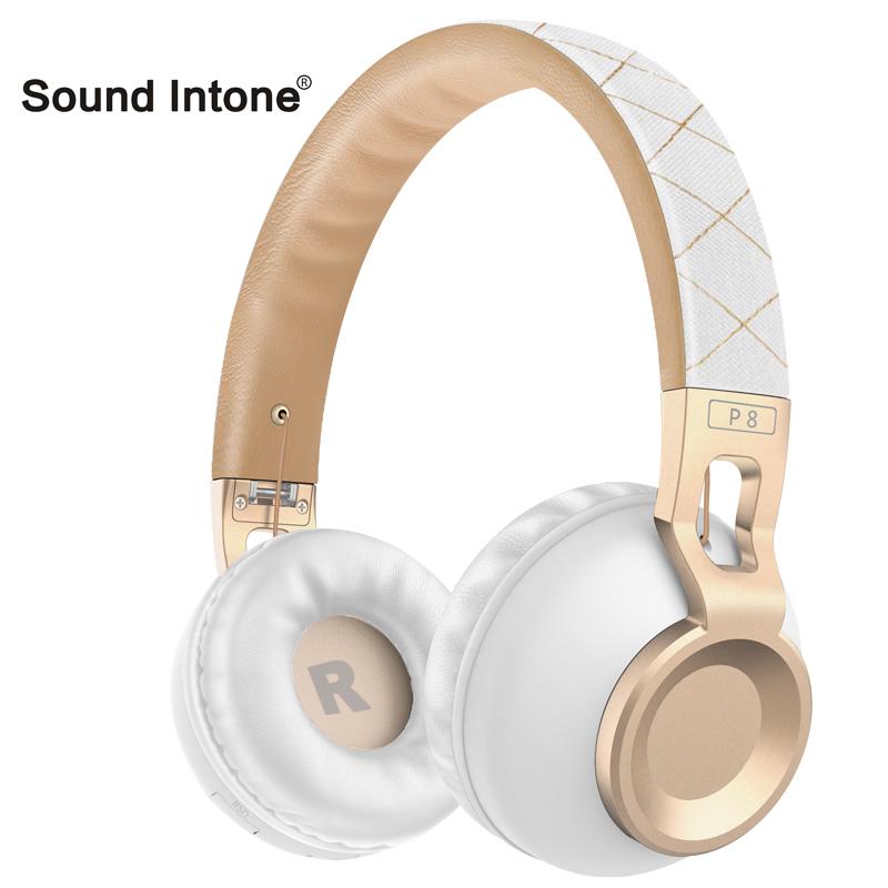 Prix pour Sound Intone P8 Bluetooth Pliable Casque Stéréo Léger Bas Basse Nouvelle Mode Doux P8 Sans Fil + Filaire Casque pour iPhone