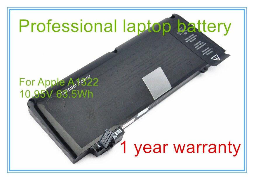 """bilder für Neue Vorlage A1322 Batterie Für Pro 13 """"Unibody A1278 2009-2012 Version 10.95 V 63.5Wh"""