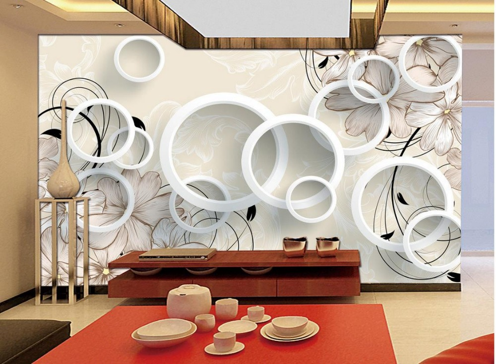 Custom photo wallpaper 3d eurpean 3d dream flower circle for 3d wallpaper for home decoration