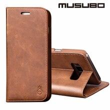 Musubo Делюкс кожаный чехол Стенд Case Cover Для Galaxy S8 Plus чехол край Samsung S7 Edge S6 S5 S4 Подлинный Реальный Кожаный Бумажник случаях чехол чехол на Note 5 4 3 кожаный чехол cases