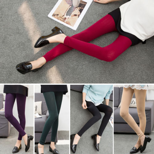 Stylish Women Winter Casual Solid Basic Tights Thick Pantyhose