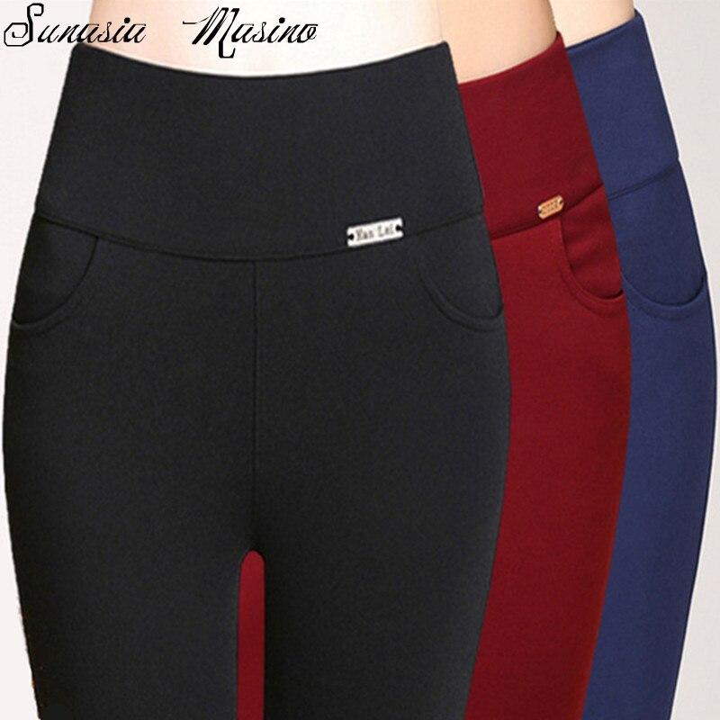 summer style fashion 3 color Iron card occupation women high waish pants S-6XL,5XL,4XL calf-length Trousers capris plus size