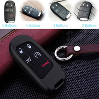 5 Or 4 Or 3 Or 2 Buttons Aluminium Car Key Case For Jeep Renegade Patriot