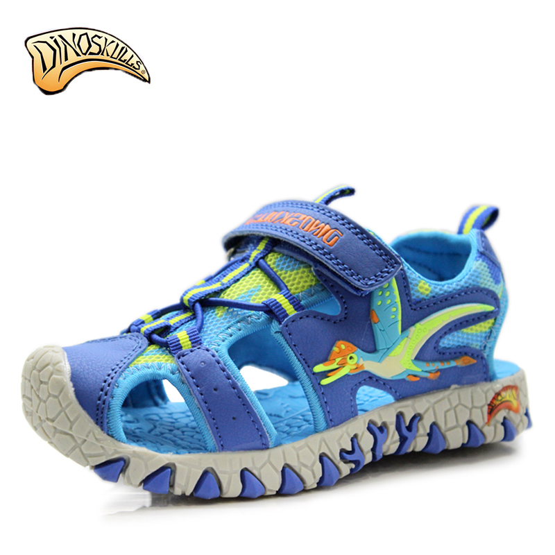 2018 Boys sandals beach shoes for kid sandal shoes for Childrenboys 3D Dinosaur Sandals Closed Toe Sandals size 27-34