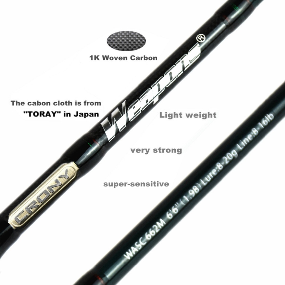 Crony Weapons Series Wasc-662m Bass Casting Ruten 6'6