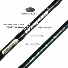 Crony Weapons Series Wasc-662m Bass Casting Rods 6'6″ 2pieces 8-20g Lure Weight  8-26lb Line Class Baitcasting Fishing Rod