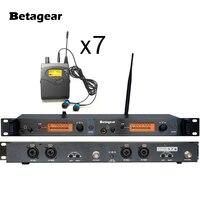 Betagear SR2050 wrireless في الأذن شاشات iem المهنية uhf ل الموسيقيين والمغنين 1 uhf الارسال bodypack 7 استقبال-في الميكروفونات من الأجهزة الإلكترونية الاستهلاكية على