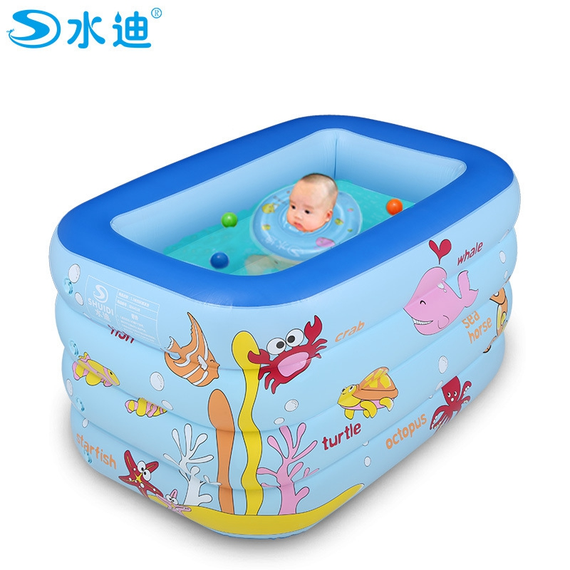 Inflatable Pool Portable Cartoon 4layers Children