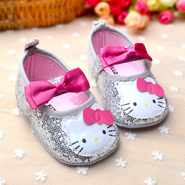 Aliexpress.com : Buy Hello Kitty Baby Girl Princess Shoes Bowknot ...