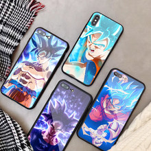 Dragon Ball super sun wukong szkło hartowane etui na telefon iPhone XS XS Max 8 7 6 6S Plus dla iPhone 5 5C SE 5S X(China)