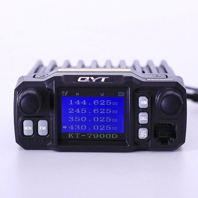 QYT KT 7900D 25 واط سيارة المحمول اتجاهين راديو قاعدة راديو مركبة شنت اتجاهين الراديو