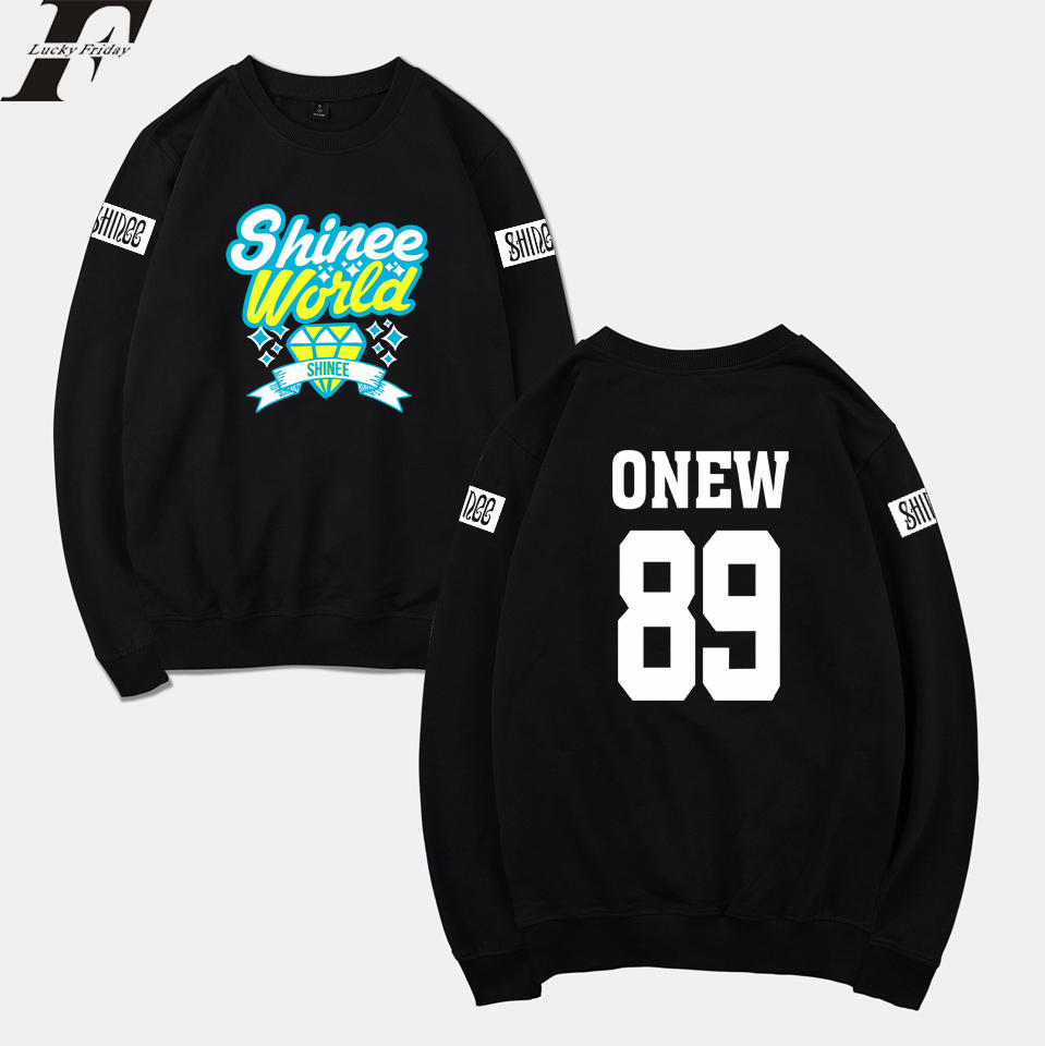 LUCKYFRIDAYF SHINee Jonghyun R.I.P. Kpop Hoodies Sweatshirt Women/Men Winter Sweatshirts Hoodies Mulheres Kpop Warm Clothes