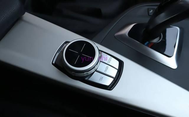 US $13 43 44% OFF|Idrive Upgrade Accessories For BMW 1 3 5 7 Series X1 X3  X4 X5 X6 E60 E90 F30 etc Car Interior Multimedia Knob Translucent Covers-in