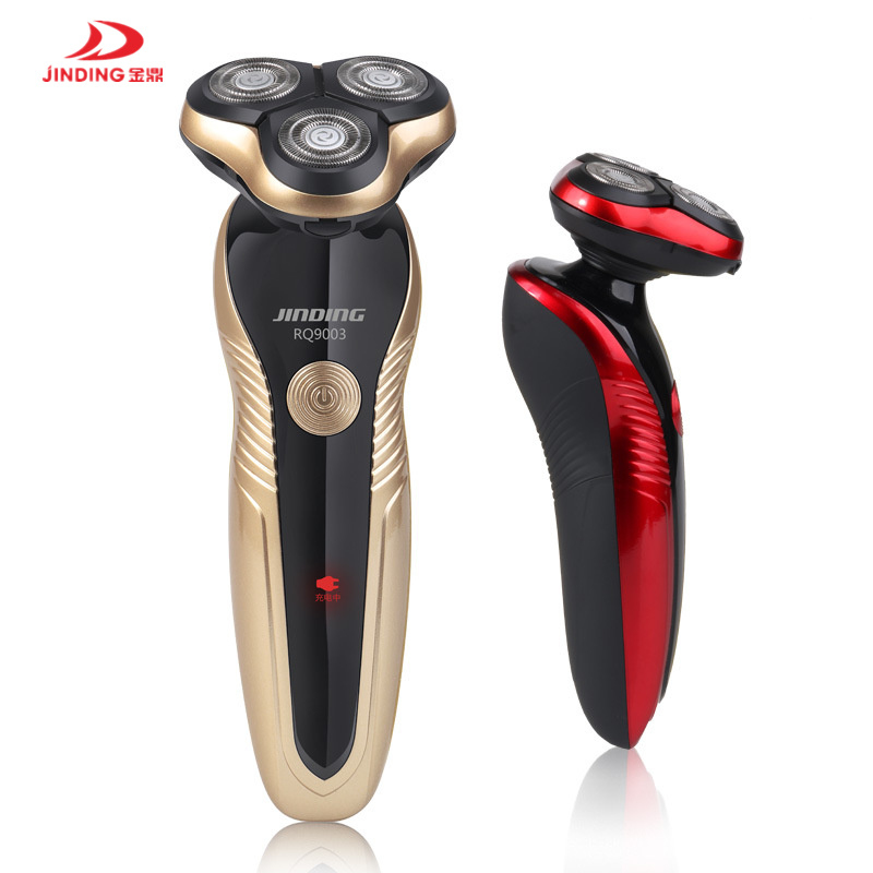 JINDING Male Shaving Machine With 3D Floating Head Electric Shaver Rechargeable Beard Trimmer Professional Electric Razor jinding gold plated electric shaver gold rechargeable shaver 3d float triple blade electric head trimmer waterproof men shaver