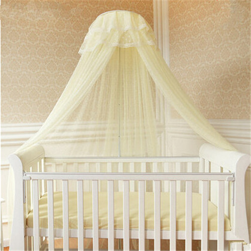 100% Polyester Mesh Baby Bed Mosquito Net Luxury Crib Netting With Stand,Crib Palace Mosquito Netting