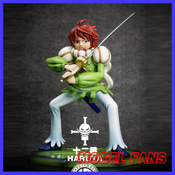MODEL FANS INSTOCK one piece pop scale White beard Pirates NO.12 captain Haru GK resin figure for Collection