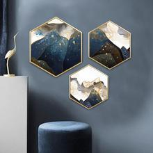 Hexagonal abstraction Decorative paintings Restaurant corridor entrance framed painting Living room bedroom Hanging