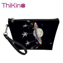 Thikin Spaceship Alien Makeup Bags for Women Girls Cosmetic Bag Travel Handbag Case Pouch Rock Storage Purse