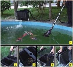Zwembad cleaner visvijver skimmer vis vijver drijvende prullenbak reinigingsmachine 135 w 8500L/h meer energiebesparende dan vacuüm