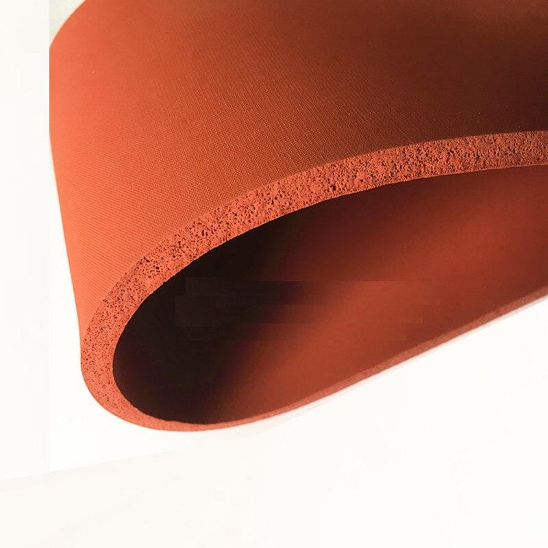 Espuma de silicona esponja tablero de chapa manta aislante de calor tira cuadrada 500x500x25mm rojo - 4
