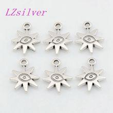 Hot sell ! 100pcs Antique Silver ZInc Alloy Duplex Evil Eye Charm Pendant DIY Jewelry 14.5x 19mm A-043